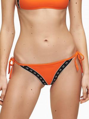 Cheeky String Side Tie Vermillion Orange Spodní díl plavek Calvin K Oranžová