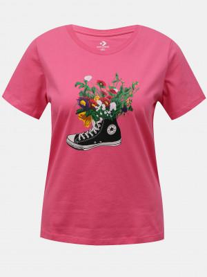 Flowers Are Blooming Triko Converse Růžová