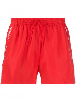 Short Drawstring Plavky Calvin Klein Červená