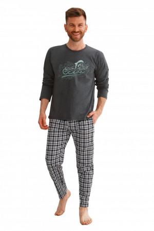 Pánské pyžamo 2631 dark grey