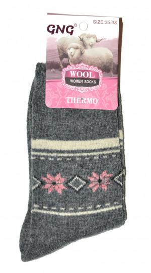 Dámské ponožky Ulpio GNG 3361 Thermo Wool błękitny 35-38