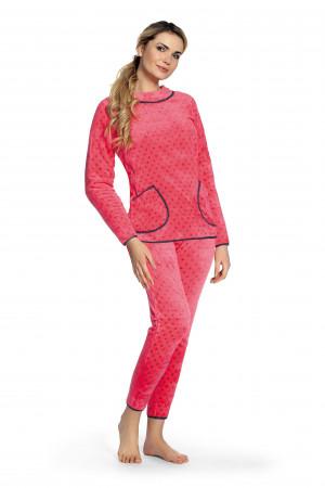 Dámské pyžamo De Lafense 376 Melanie dł/r S-2XL ecru jasny