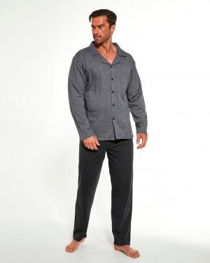 Pánské rozepínací pyžamo Cornette 114/49 387702 dł/r 3-5XL grey 4XL