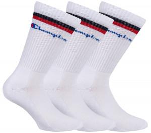 3PACK ponožky Champion bílé (Y0B0A) 39-42