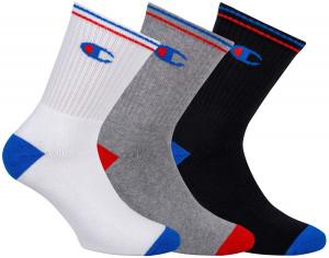 3PACK ponožky Champion vícebarevné (Y0829) 39-42