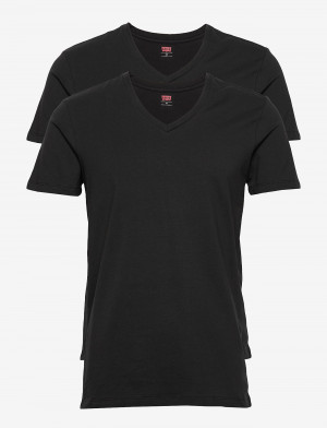 2PACK pánské tričko Levis V-neck černé (905056001 884)