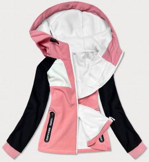 Růžová dámská sportovní softshell bunda (HD184-25) różowy S (36)