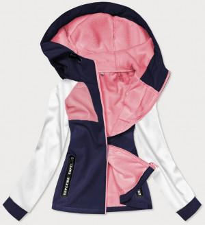 Tmavě modrá sportovní dámská softshell bunda (HD184-4) różowy S (36)