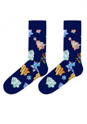 Pánské ponožky John Frank JFLSFUN-CH21 UNI Tm. modrá