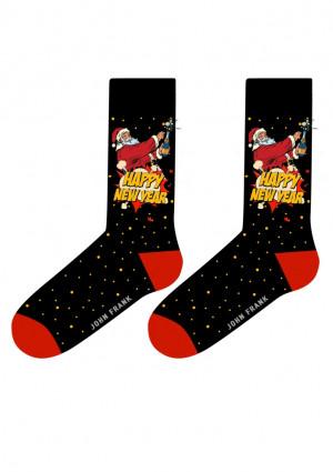 Pánské ponožky John Frank JFLSFUN-CH23 UNI Černá