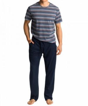 Atlantic NMP-345 šedé Pánské pyžamo XXL šedá-tmavě modrá