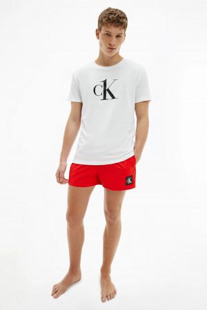 Calvin Klein bílé pánské tričko Relaxed Crew Tee