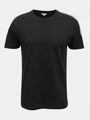 Calvin Klein černé pánské tričko Relaxed Crew Tee