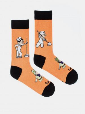 Lolek a Bolek Ponožky Fusakle Oranžová