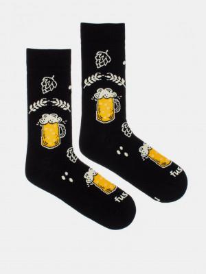 Chmelová brigáda Ponožky Fusakle Černá