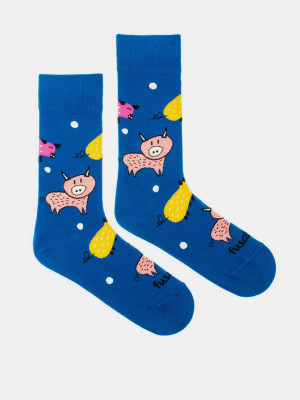 Zlaté prase Ponožky Fusakle Modrá