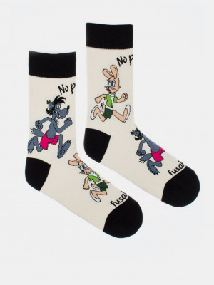 No počkej Chyť mě Ponožky Fusakle Bílá