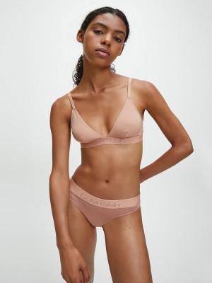 Unlined Triangle Podprsenka Calvin Klein Béžová