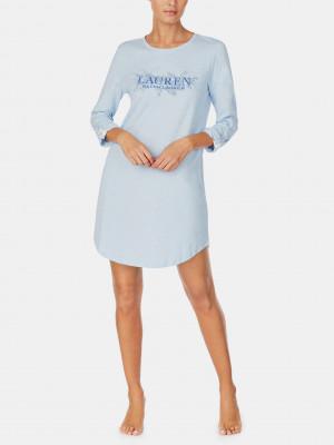 Noční košile Lauren Ralph Lauren Modrá