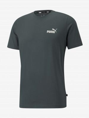 Tmavě zelené pánské tričko Puma ESS Small Logo Tee