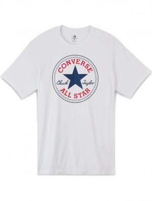 Converse bílé pánské tričko Chuck Patch s logem