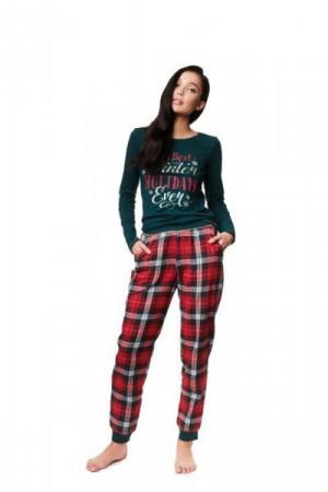 Henderson Ladies Zev 39221-79X Dámské pyžamo L zeleno-červená