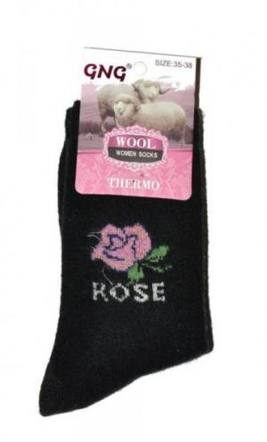 Ulpio GNG 3010 Thermo Wool Dámské ponožky 39-42 černá/lurex