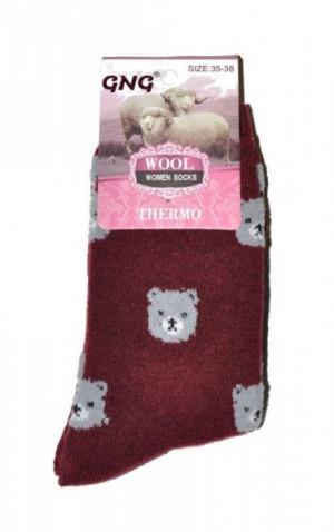 Ulpio GNG 3027 Thermo Wool Dámské ponožky 39-42 bordová