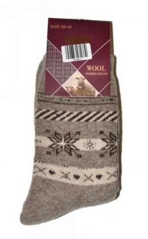 Ulpio GNG 9998 Thermo Wool Dámské ponožky 39-41 béžová