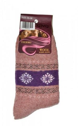 Ulpio GNG 9918 Thermo Wool Dámské ponožky 35-38 béžová