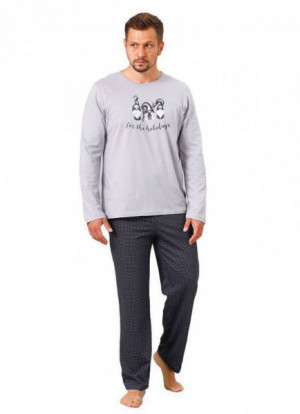 M-Max Hotberg 1125 Zen Pánské pyžamo XXL Cappuccino