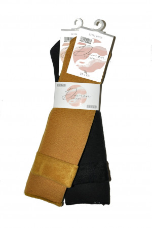 Dámské ponožky WiK 37690 Damen Extra Weich A'2 hořčicově černá 35-42