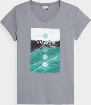 Dámské tričko 4F H4Z21-TSD022 šedé