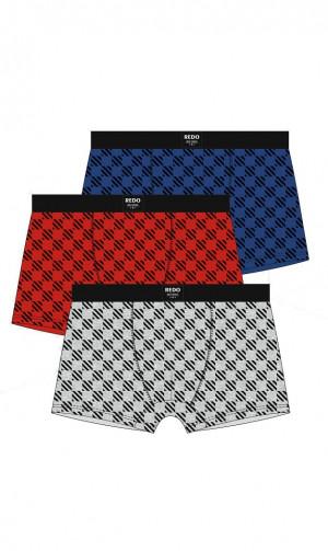 Pánské boxerky 1BE-646 -  Redo červená - černá 3XL