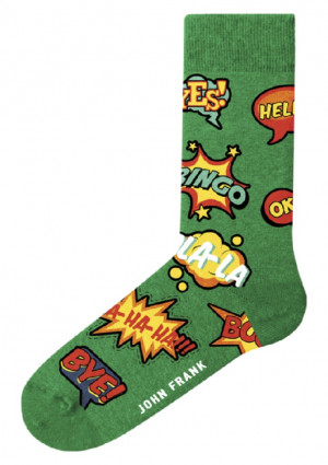 Pánské ponožky John Frank JFLSFUN85 UNI Zelená