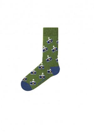 Pánské ponožky John Frank JFLSFUN81 UNI Zelená