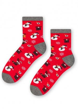 Dámské ponožky Steven 136 016 35/37 Červená