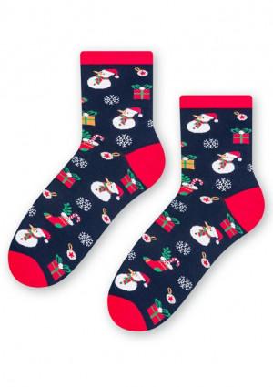 Dámské ponožky Steven 136 017 38/40 Tm. modrá