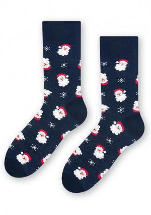 Pánské ponožky Steven 136 065 41/43 Tm. modrá
