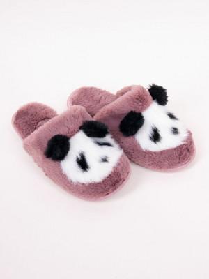 Dámské nazouvací papuče PANDA OKL-0032 Růžová 36-37
