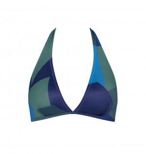 Vrchní díl plavek sloggi women Shore Kiritimati Triangle - kombinace modré - SLOGGI BLUE - DARK COMBINATION