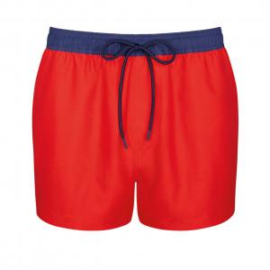 Pánské plavky sloggi men Shore Chukk Boxer midleg - červené - SLOGGI BRIGHT RED