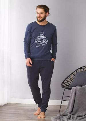 Pánské pyžamo MNS 781 B21 tmavě modrá 2XL