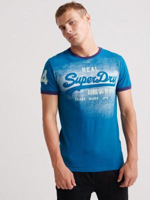 Triko SuperDry Modrá