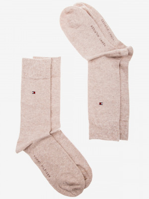 Ponožky 2 páry Tommy Hilfiger Béžová