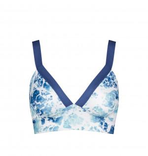 Vrchní díl plavek sloggi women Shore Yap Islands Bralette -modrý - SLOGGI MULTI-COLOUR