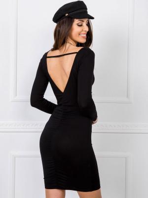 RUE PARIS Černé šaty s výstřihem na zádech černá