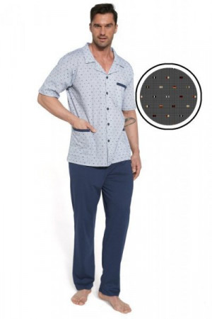 Cornette 318/43 Pánské pyžamo 2XL tmavě modrá