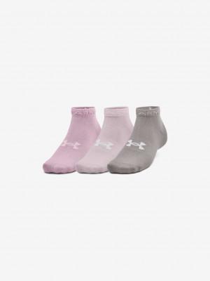 Essential Low Ponožky 3 páry Under Armour Růžová