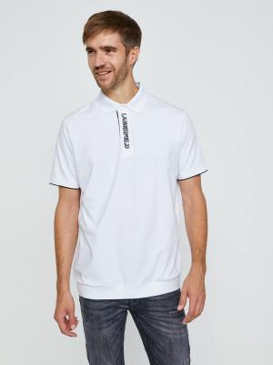 Černo-bílé polo triko KARL LAGERFELD